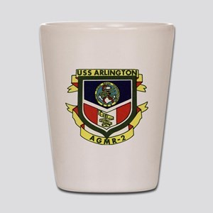 uss arlington patch transaparent Shot Glass