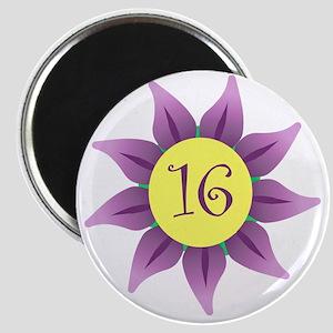 Flower Power Sweet 16 Earrings Magnet