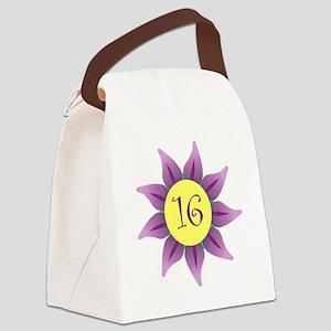 Flower Power Sweet 16 Earrings Canvas Lunch Bag
