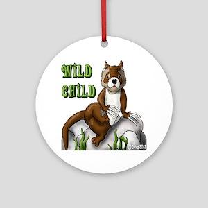 Wild Child Round Ornament