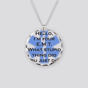 Im your E.M.T. Necklace Circle Charm