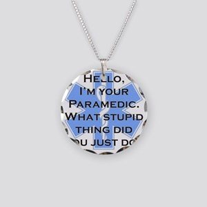 Im Your Paramedic Necklace Circle Charm