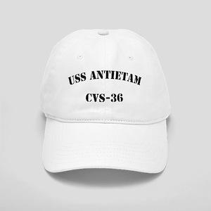 uss antietam cvs black letters Cap
