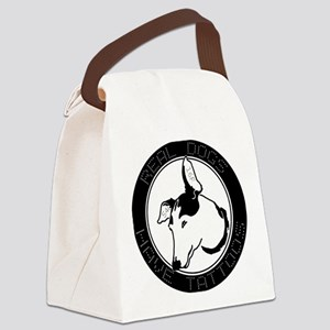 Real Dogs Have Tattoos Canvas Lunch Bag