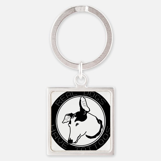Real Dogs Have Tattoos Square Keychain