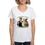 Al's Inconvenient Loot Women's V-Neck T-Shirt