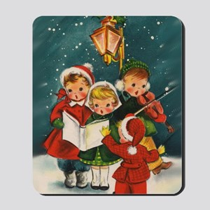 Vintage Christmas children Mousepad