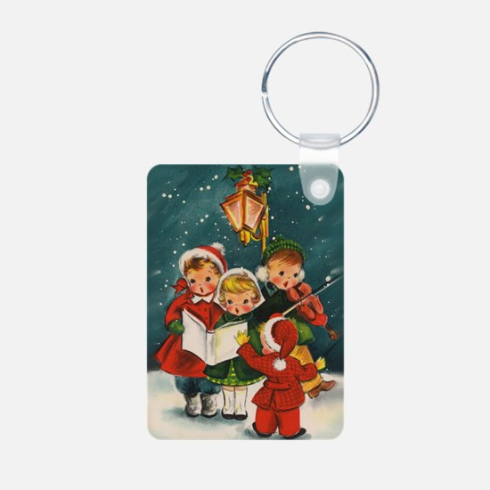 Vintage Christmas children Keychains