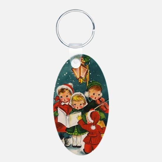 Vintage Christmas children Keychains