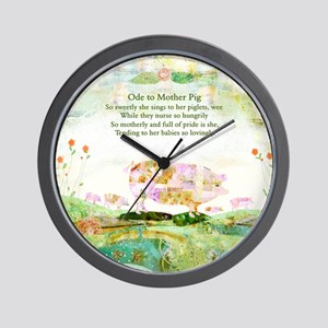 Ode to Mother Pig Wall Clock