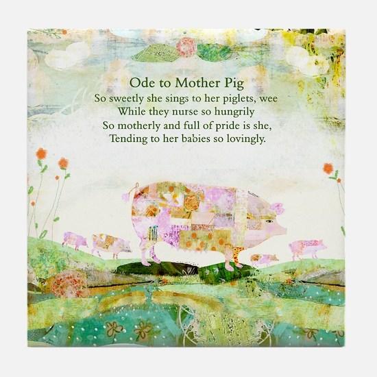 Ode to Mother Pig Tile Coaster