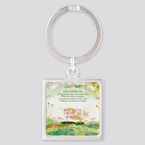 Ode to Mother Pig Square Keychain
