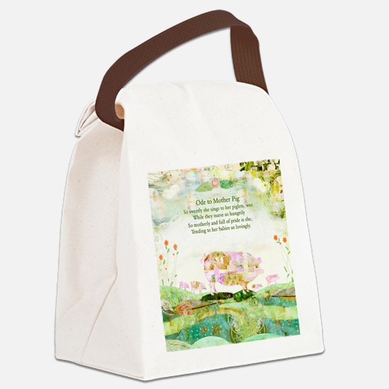 Ode to Mother Pig Canvas Lunch Bag