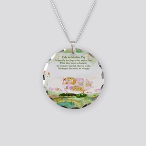 Ode to Mother Pig Necklace Circle Charm