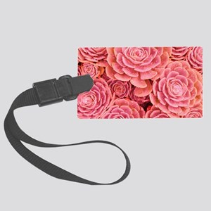 Pink Multiple Succulent Large Luggage Tag