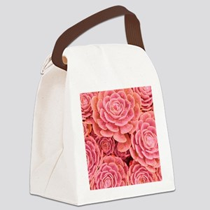 Pink Multiple Succulent Canvas Lunch Bag