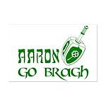 Irish & Jewish Aaron Go Bragh Mini Poster Print