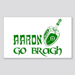 Irish & Jewish Aaron Go Bragh Sticker, Rectangular