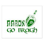 Irish & Jewish Aaron Go Bragh Small Poster