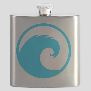 Ocean Wave Design Flask