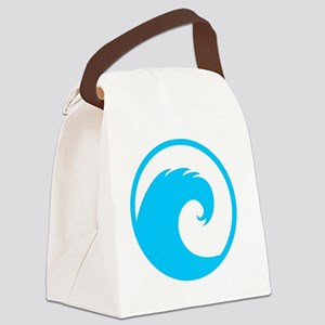 Ocean Wave Design Canvas Lunch Bag