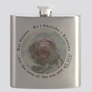 Protecting Hawaiian Monk Seal Flask