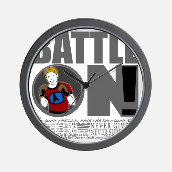 "Aaron Schulte ""Battle On"" Wall Clock"