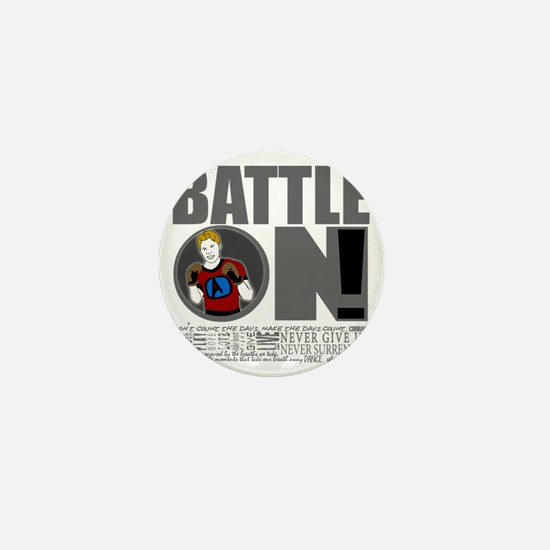 "Aaron Schulte ""Battle On"" Mini Button"