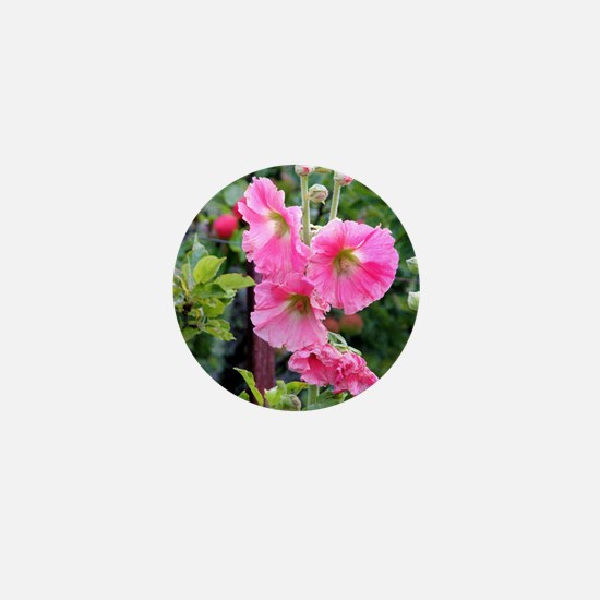 Notecard---Hollyhock-Pink Mini Button