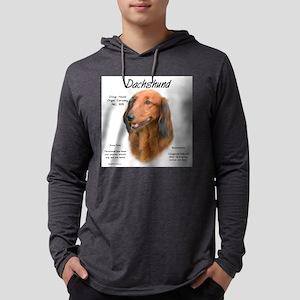 Longhair Dachshund Mens Hooded Shirt