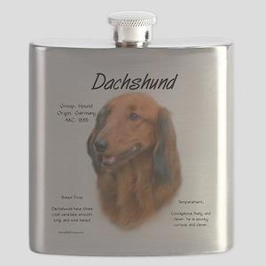 Longhair Dachshund Flask