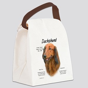 Longhair Dachshund Canvas Lunch Bag