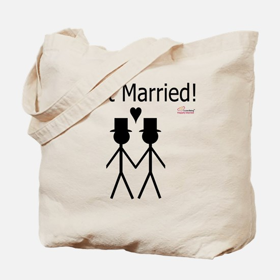Just Married Gay Marriage Tote Bag