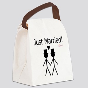 Just Married Gay Marriage Canvas Lunch Bag