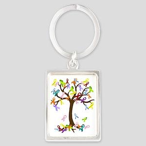 Ribbon Tree Portrait Keychain