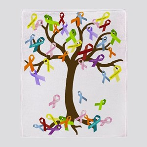 Ribbon Tree Throw Blanket