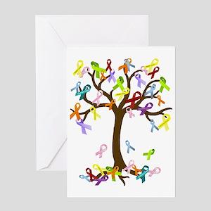 Ribbon Tree Greeting Card