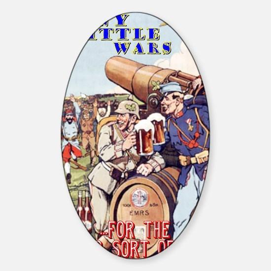 Funny Little Wars T-Shirt (#1) Sticker (Oval)