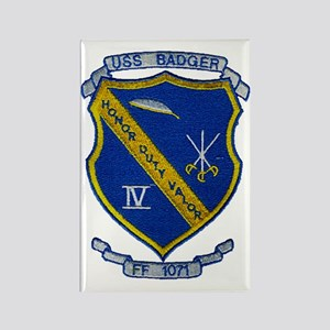 uss badger ff patch transparent Rectangle Magnet