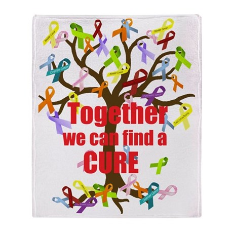 Together we can find a CURE Throw Blanket