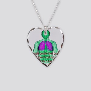Organ Donor Rip-Off Necklace Heart Charm