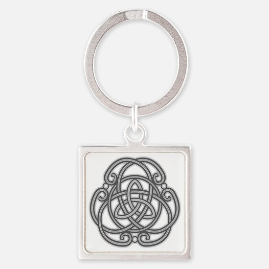 Knot Design Square Keychain