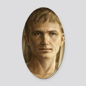 11x17 Emperor Augustus Oval Car Magnet