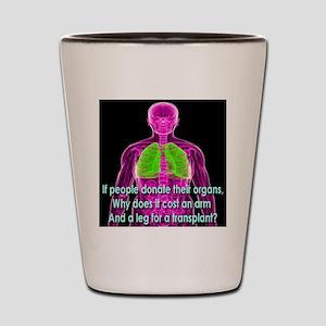 Organ Donor Rip-Off Shot Glass