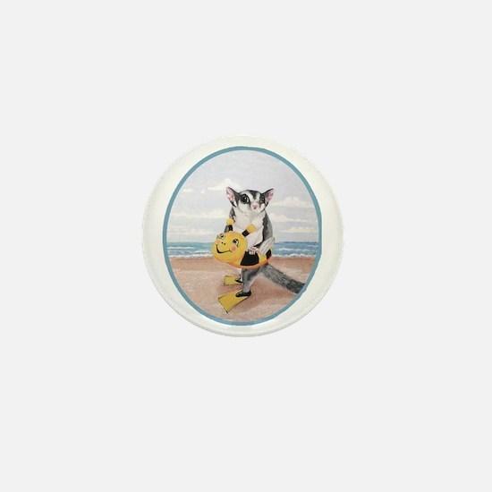 beach baby Mini Button