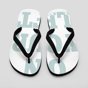OYL_Blue Flip Flops