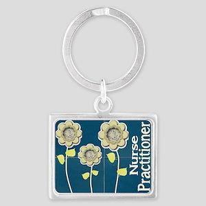 Nurse Practitioner Flower tote  Landscape Keychain