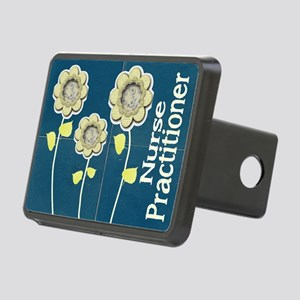 Nurse Practitioner Flower  Rectangular Hitch Cover
