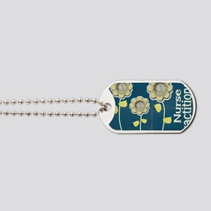 Nurse Practitioner Flower tote BLUE BRICK Dog Tags