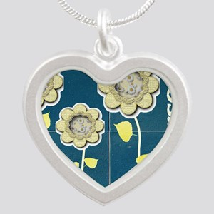 Nurse Practitioner Flower to Silver Heart Necklace